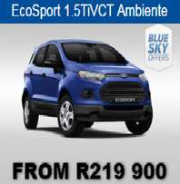 Brand New Car Ford Credit ABSA Specials