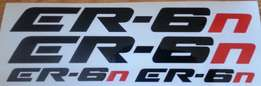 ER-6N Ninja 650R decals sticker sets
