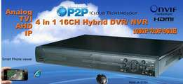 4CH 4 In 1 AHD DVR 1080P 720P 960H D1 Support Analog, HD TVI, AHD