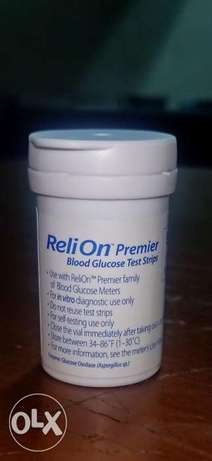 Reli on blood test Strips شرايط سكر
