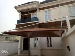 A brand new semi detached four bedroom duplex with bq on a full plot.