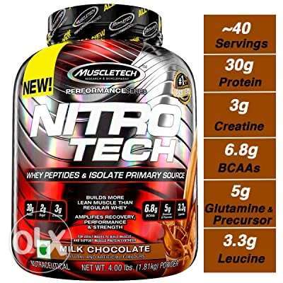 New Nitrotech by muscletech 4lbs Whey protein isolate for 130,000LL