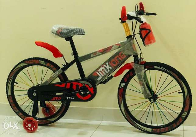"""New arrival cycle for kids size 20"""" red color with LED lights"""