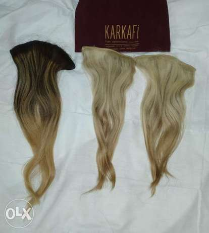 3 hair extentions natural hair byensabagh w ma3moul highlight.