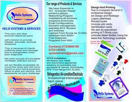 Free technical advise on ,CPU ,laptops, printers,CCTV, fridge,Repair.