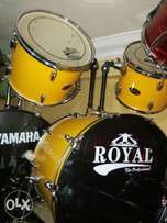 Yellow coloured set of drum