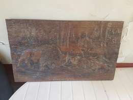 Carved Wooden wall piece