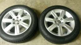 15 inch polo 6 mags and tyres