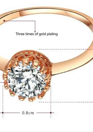 ROXI Top Quality 18K Rose Gold Plated Ring Kasarani - image 4