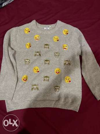 Smily faces sweater for winter