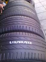 225/55/R17 on special in a good condition for sale each is R750