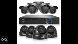 SANNCE 8CH Full 1080N Security Camera System CCTV DVR and (8) 720P Nig