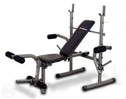 Brand new weight lifting bench with 50kg barbell