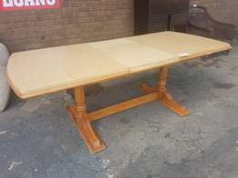 Light Wooden Table with Extension