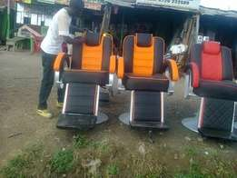 Two barber chairs