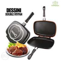 Non-stick Die-cast aluminium Double Sided Grill Pan