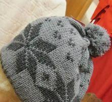 шапка теплая бубон зимняя НОВАЯ 59-60 размер плотная вязка двойная 28ff928ce7890