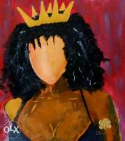 African Queen acrylic painting