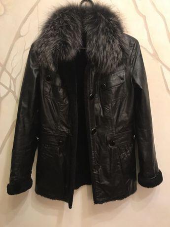 ec86c26c976 Очень тёплая зимняя куртка натуральная кожа мех! Одесса - изображение 1