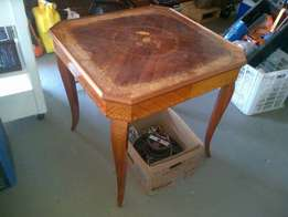 Stunning, vintage, Italian Marquetry games table for sale