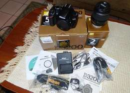 Nikon d3200 with 18-55 lens, shutter count of 514
