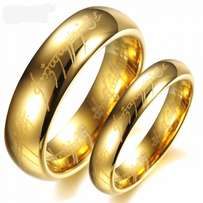Gold plated stainless steel wedding ring