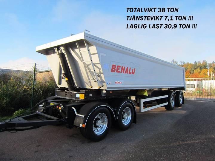 Benalu Tippsläp 4-axl 38 Ton Vikt 7 Ton Siderale 92 - 2018