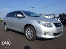 Fresh import Toyota corolla fielder just arrived now its kcp number