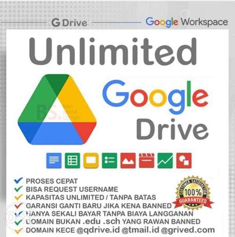 One Time payment UNLIMITED G-suite for Life