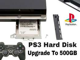 PS3 Hard Disk Upgrade to 500GB. More Space, More Games And More Movies