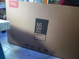 55 inches smart tcl slim tv