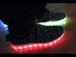 Led Yeezy Boost Sneakers-Black