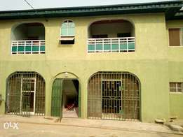 Letting 3Bedroom flat with 4Toilets at Fagba off Iju road.