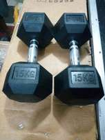 15kg dumbbell pair which is 30kg brand new imported