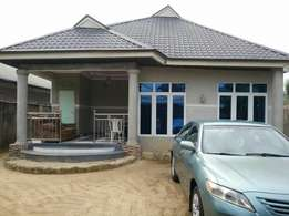 3 Bedroom Bungalow alone in a plot of land is for sale. W