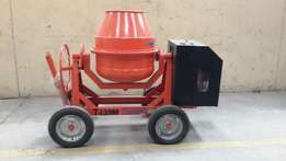 concrete mixer with poker vibrator and shaft