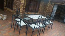 8 seater Outdoor Patio set with side table