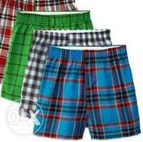 3pack boys checked boxer shorts(3-18yrs)