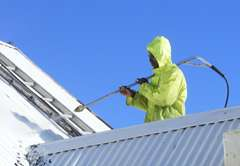 Roof cleaning and painting