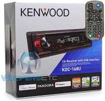 Kenwood KDC-168U In-Dash 1-DIN CD Car Stereo Receiver with Front USB I