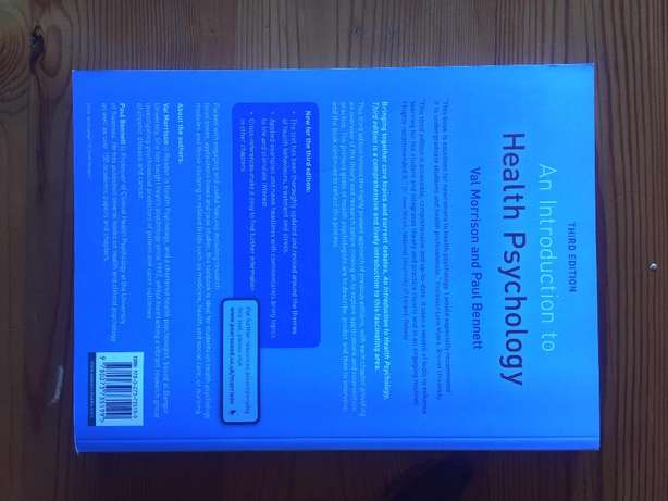 Introduction to Health Psychology Third Edition Text Book Parklands - image 2