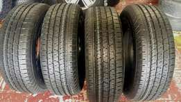 255/70R16 tyres (4) brand new for sale.