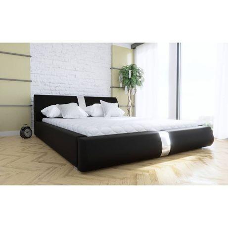 łóżko Ohea 180x200 Stelaż Metal Pojemnik I Materac Super