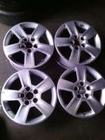 16inch rims for Audi on special for sale each rim cost R650