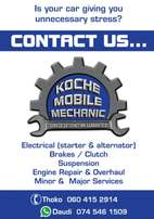 Mobile Mechanic and Auto Electrician