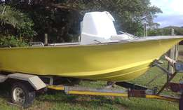 18.6ft Ace Craft hull and Trailer