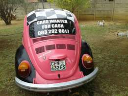 Vehicles wanted urgently for Cash