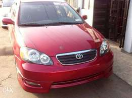 Clean Toyota Corolla 2007 Red
