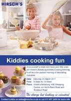 Kiddies Cooking at Hirsch's Boksburg