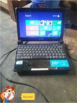 Mini laptop with 500 gig hard drive 1 gig ram no batery swap allow.